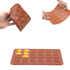 30 Cavity Silicone Pastry Muffin Cake Macaron Oven Baking Mould Sheet Mat New