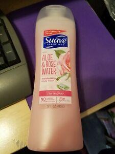 Suave Essentials Aloe & Rose Water Moisturizing Body Wash Brand New 15 fl oz