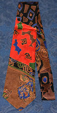 GIANNO Italian Import ABSTRACT Red/Brown/Blue/Black MEN'S NECK TIE ! FREE SHIP !