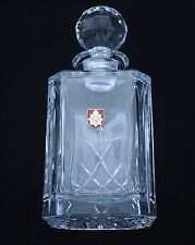 Royal Army Service Corps Crystal Cut Glass Decanter Whiskey Spirit BGK35