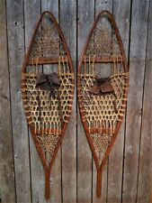 Rare Antique Primitive Iver Johnson Wood & Rawhide Snowshoes AAFA