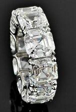 6ct Asscher Cut Diamond Eternity Anniversary Wedding Band 14k White Gold Finish