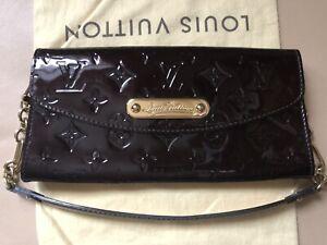 Louis Vuitton Sunset Blvd Monogram Vernis Leather Clutch Handbag