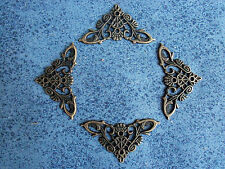 4pcs 35mmX35mm color antique brass metal Decorative Corner Bracket for Chest Cas