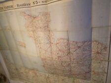 NORMANDY-BRITTANY-CHANNEL ISLES:CARTE TARIDE,INTER WAR-ROUTIER-MOUNTED ON LINEN