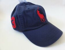 100 Authentic Mens DESIGNER Polo Ralph Lauren Cap Navy Blue Adjustable Back