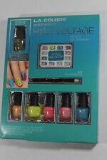 L.A. Colors Color Craze HIGH VOLTAGE Nail Care Set; Ages 7+ Factory-Packaged