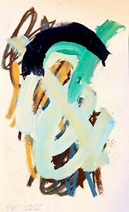 CORBELLIC ABSTRACT ORIGINAL EXPRESSIONIST MODERN ACRYLIC COLLECTIBLE FINE ART