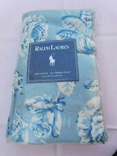 Ralph Lauren Meadowland NOS  Blue & WHITE KING PILLOWCASES 100% COTTON