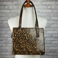 Via Spiga handbag snakeskin print leather graffiti design vintage 1990s Italy