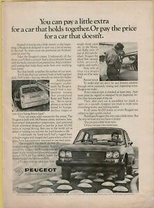 1976 Peugeot 504 Unitized Body 7000 Welds 4 Cyl Photo Auto Vintage Print Ad