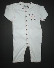 INFANT GIRLS MARGERY ELLEN PINK & BROWN POLKA DOT POCKET LONGALL OUTFIT SZ 3-6 M