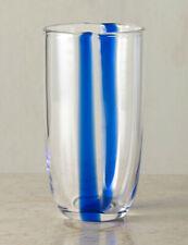 """*NEW* 2 x Ralph Lauren """"Adela"""" Crystal Highball Glasses - Blue Stripe *NWT*"""