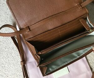 Phone/credit card cross body bag, new with tag tan leather rrp £99.00