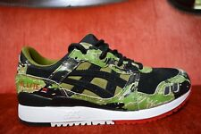 ASICS TIGER × ATMOS GEL-LYTE III 3 FOR GREEN CAMO HK724-8890 Red Black Size 7