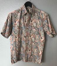 EUC Vintage-The-Kahala-Handcrafted-in-Hawaii-Hawaiian Leaves -Camp-Shirt, Men S