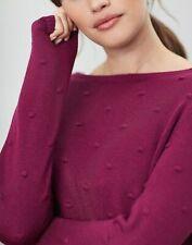 Joules Womens Marlene Bobble Texture Jumper - PURPLE ORCHID