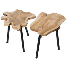 Teak Beistelltisch Holztisch Teakholz Couchtisch Holz massiv Sofatisch 330