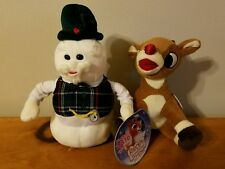 Sam Snowman and Rudolph Red Nosed Reindeer Commonwealth Toy Doll 2005 Plush Lot
