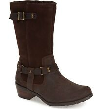 UGG® AUSTRALIA CADDIE BROWN LEATHER MID-CALF BOOTS UK 5 EUR 36 USA 6 RRP £150