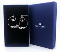 New Authentic SWAROVSKI Rose Gold North Crystal Hoop Pierced Earrings 55493391