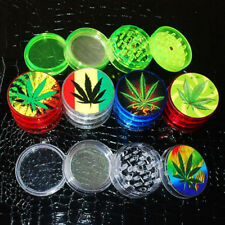 Plastic 4 Layers Herb Grinder Tobacco Extra Storage Mini Pollinator Crusher New