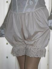 Vintage inspired gold silky nylon gusset frilly bloomers knickers panties