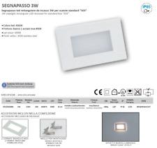 SEGNAPASSO LED 3W IP65 PER SCATOLA 503 CON CORNICE BIANCA INOX 230V 4000K LAMPO