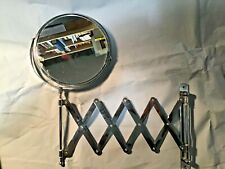 EXTENDING WALL MOUNTED MAGNIFYING SHAVING / MAKE UP MIRROR