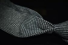 LNWOT #1 MENSWEAR Vanda Fine Clothing Untipped Black Silver Diamond 7 Fold Tie