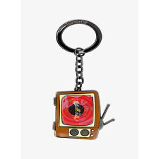 Loungefly Looney Tunes Lenticular Tv 2.5 Enamel Keychain New In Stock