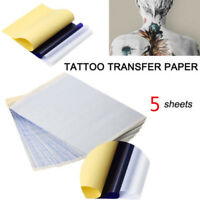 5 Sheets Tattoo Transfer Copier Paper A4 Size Stencil Carbon Thermal Tatoo Arts