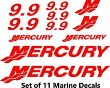 (11pc) Set of 9.9 Hp Mercury outboard cowling decal set custom color choices