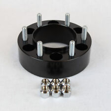 Chevy Hubcentric Wheel Spacers Adapters Black 2 in fits Silverado Suburban Tahoe