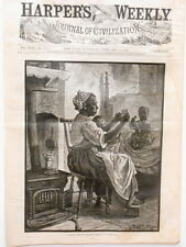 """Harper's Weekly Engraving Black Americana """"A Letter From De Ole Man"""" 1879"""