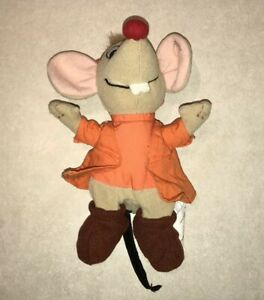 Cinderella Jaq 7 Inch Doll Walt Disney Animation Cartoon Princess Mouse Plush