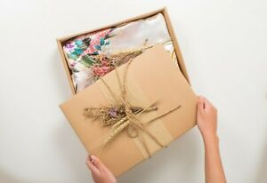 Handmade Craft Gift Wrap Boxes Hemp Rope with Dry Flowers
