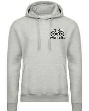 Two Tyred Hoodie hoody hood tired Gift for mother's day ladies mens Cycle lover