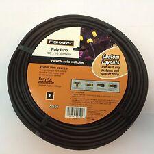 Fiskars Poly Pipe 100' X 12 diameter Flexible solid wall pipe