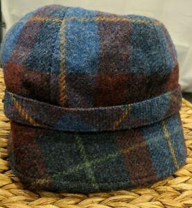 Mucros Weaver's Ireland Tweed Plaid Flapper Hat Wool