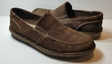 Clarks Mens Loafers 30533 Brown Suede Slip On Loafer - Size 11M