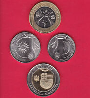 R* MOLDOVA 1-10 LEI COMPLETE SET OF 4 COINS + BOOKLET 2018 UNC DETAILS