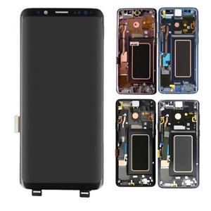 For Samsung Galaxy S9 G960 G960A G960U LCD Display Touch Screen Digitizer Frame