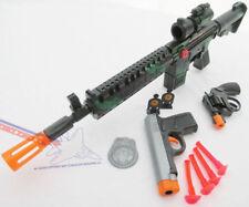 3x Toy Guns Friction M-16 Toy Rifle Grey 9MM Dart Pistol Revolver Cap Gun Set