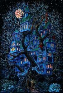 1970s TreeHouse black light poster replica magnet - new!