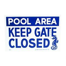 Valterra Products B8737 Blue Devil 18 X 12 In. Keep Gate Closed Sign