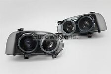 Volkswagen Golf MK3 92-97 Smoked Projector Headlights Set Pair Hella DE Look