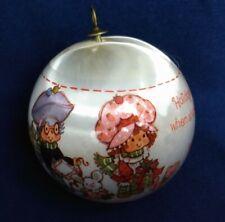 Vintage 1982 STRAWBERRY SHORTCAKE Satin Ornament Ball Christmas WWA, INC.
