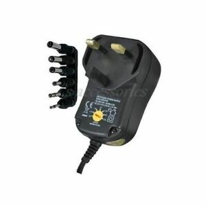 New 600mA Multi-Volt Regulated Switch Mode Plug-In Power Supply With 6 DC Plugs
