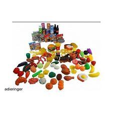 Plastic Play Food 150 Pcs Toddler Preschool Grocery Imagination